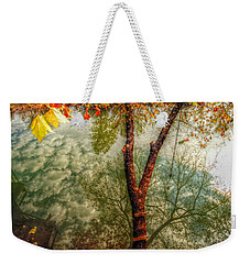 Weekender Tote Bag featuring the photograph Autumn Reflection  by Peggy Franz
