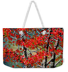 Autumn Reflections Weekender Tote Bag by Janine Riley