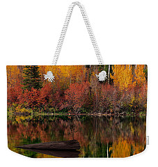 Autumn Reflections Weekender Tote Bag by Leland D Howard