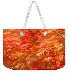 Autumn River Of Flame Weekender Tote Bag by Jeff Folger