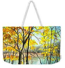 Autumn River Walk Weekender Tote Bag