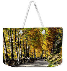 Winding Road Through The Autumn Trees Weekender Tote Bag by IPics Photography