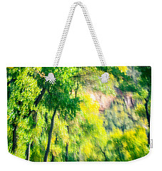 Autumn Road Through Zion Weekender Tote Bag