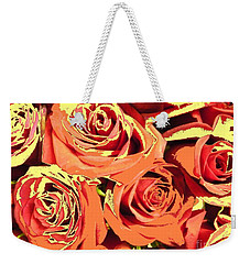 Weekender Tote Bag featuring the photograph Autumn Roses On Your Wall by Joseph Baril