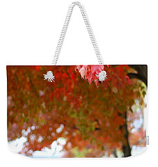 Weekender Tote Bag featuring the photograph Autumn Sidewalk by Viviana  Nadowski