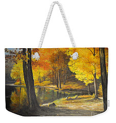 Autumn Silence  Weekender Tote Bag by Sorin Apostolescu