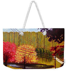 Autumn Slopes Weekender Tote Bag