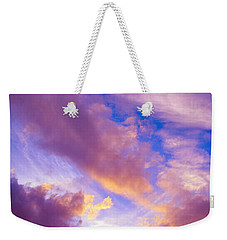 Weekender Tote Bag featuring the photograph Autumn Sunset by Naomi Burgess