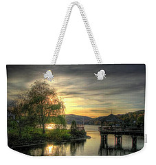 Weekender Tote Bag featuring the photograph Autumn Sunset by Nicola Nobile