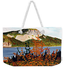 Weekender Tote Bag featuring the painting Autumn Sunset On The Hills by Barbara Griffin