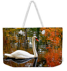 Autumn Swan Weekender Tote Bag