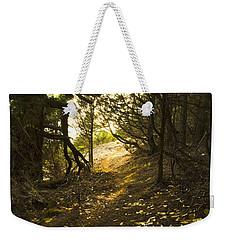 Autumn Trail In Woods Weekender Tote Bag