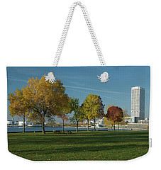 Weekender Tote Bag featuring the photograph Autumn Trees by Jonah  Anderson