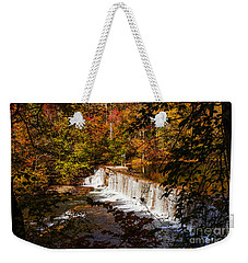Autumn Trees On Duck River Weekender Tote Bag by Jerry Cowart