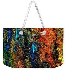 Weekender Tote Bag featuring the digital art Autumn Visions Remembered by David Lane