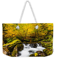 Autumn's Beginnings Weekender Tote Bag by Patricia Davidson