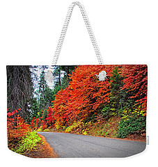 Weekender Tote Bag featuring the photograph Autumn's Glory by Lynn Bauer