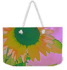 Autumn's Sunflower Pop Art Weekender Tote Bag by Dora Sofia Caputo Photographic Art and Design