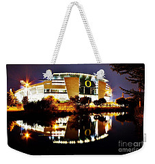 Autzen At Night Weekender Tote Bag