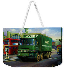 Weekender Tote Bag featuring the painting Avery's Erf Lv by Mike  Jeffries