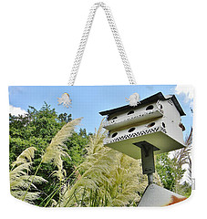 Weekender Tote Bag featuring the photograph Avian Hotel by Jean Goodwin Brooks