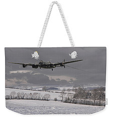 Avro Lancaster - Limping Home Weekender Tote Bag by Pat Speirs