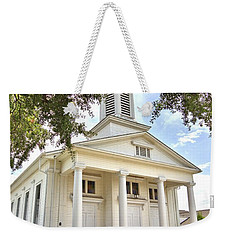 Weekender Tote Bag featuring the photograph Awaiting The Congregation by Gordon Elwell