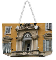 Awaiting The Pope Weekender Tote Bag by Robin Maria Pedrero