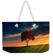 Awesome Solitude Weekender Tote Bag by Bess Hamiti