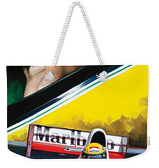 Weekender Tote Bag featuring the painting Ayrton Senna Artwork by Sheraz A