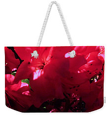 Weekender Tote Bag featuring the photograph Azalea Abstract by Robyn King
