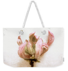 Weekender Tote Bag featuring the photograph Azalea Bud by Louise Kumpf