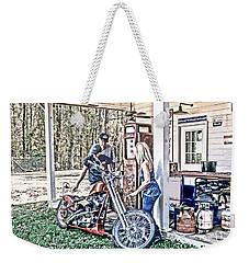 Weekender Tote Bag featuring the digital art Aztec 101 Artwork    by Lesa Fine