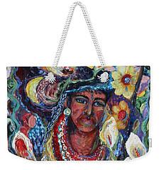 Aztec Garden Weekender Tote Bag by Avonelle Kelsey