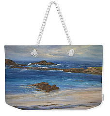 Azure Weekender Tote Bag by Valerie Travers