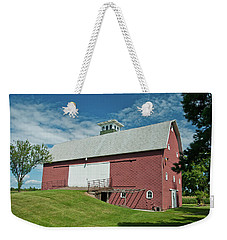 Weekender Tote Bag featuring the photograph Babcock Barn 2263 by Guy Whiteley