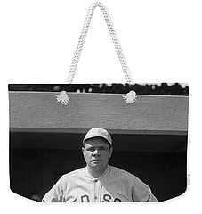 Babe Ruth In Red Sox Uniform Weekender Tote Bag by Underwood Archives