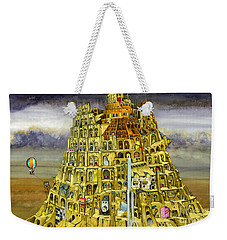 Babel Weekender Tote Bag by Colin Thompson