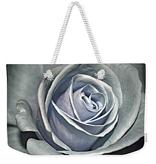 Weekender Tote Bag featuring the photograph Baby Blue Rose by Savannah Gibbs