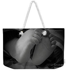 Baby Feet Weekender Tote Bag by Barbara Bardzik