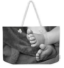 Baby Feet Weekender Tote Bag by Carolyn Marshall