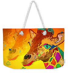 Baby Giraffe 2a Weekender Tote Bag by Joyce Dickens