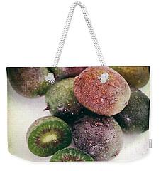 Baby Kiwi Distressed Weekender Tote Bag by Iris Richardson