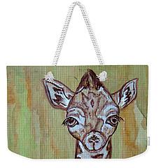Baby Longneck Giraffe Weekender Tote Bag by Ella Kaye Dickey