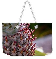 Baby White Pineapple Weekender Tote Bag by Denise Bird
