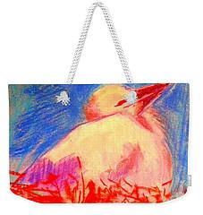 Baby Stork Weekender Tote Bag
