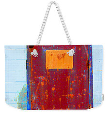 Weekender Tote Bag featuring the photograph Back Door by Christiane Hellner-OBrien