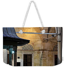 Weekender Tote Bag featuring the photograph Back Lit Interior Of Mosque  by Imran Ahmed