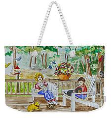 Back Porch Weekender Tote Bag