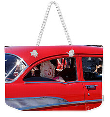 Weekender Tote Bag featuring the photograph Back Seat Marilyn by Ed Weidman